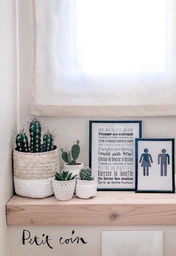 Affiche toilette déco personnalisée