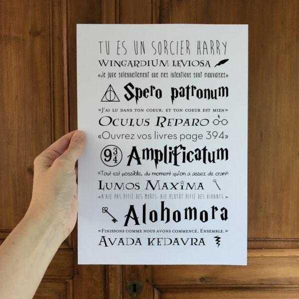 affiche personnalisable Harry Potter L'Atelier Typodeco