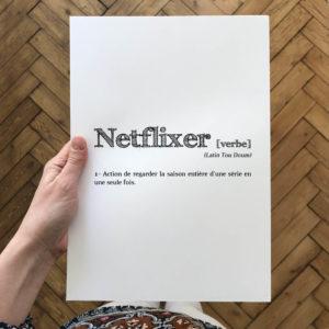 Netflix affiche définition L'Atelier Typodeco