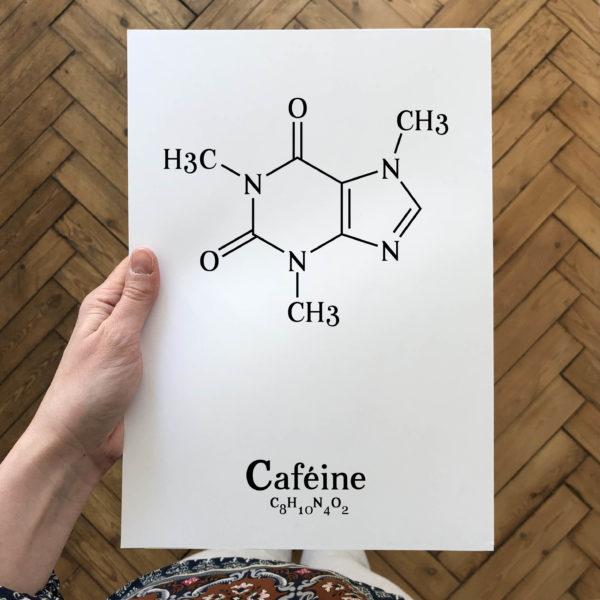 affiche-molecule-cafeine-L'Atelier Typodeco
