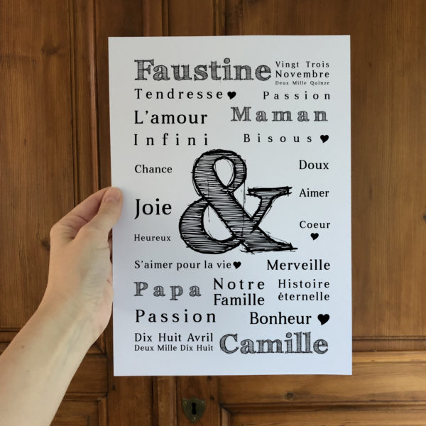 famille amour l'atelier typodeco