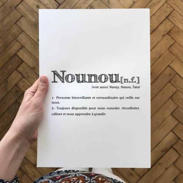 l'atelier typodeco affiche personnalisée définition Nounou